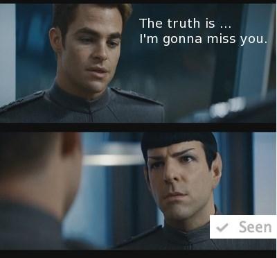 aww Captain Kirk Spock Star Trek funny - 8964777728