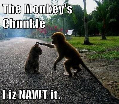 The Monkey's Chunkle  I iz NAWT it.