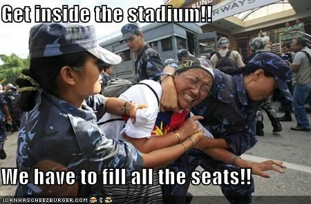 China olympics police Protest tibet - 896516864
