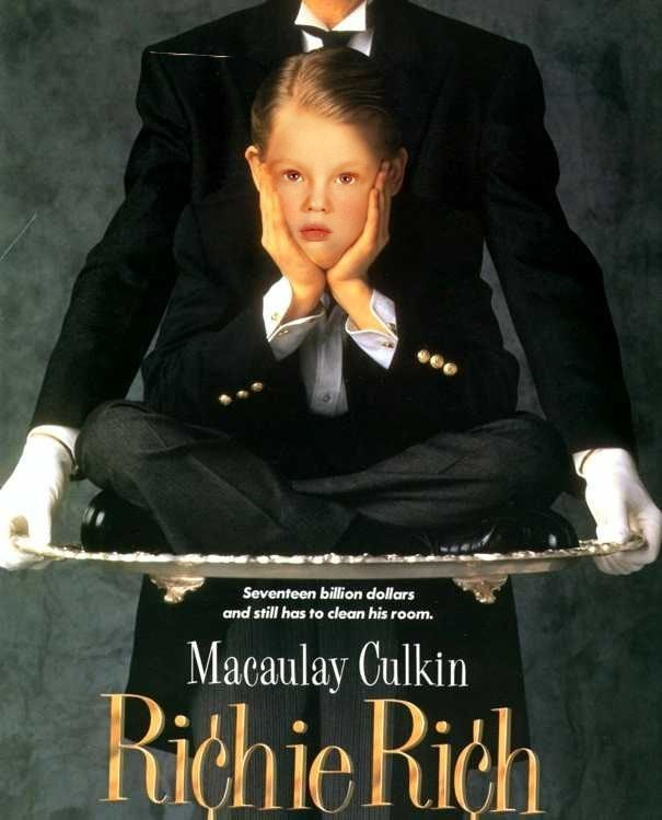 Trump as a kid Poster - Seventeen billion dollars and still has to clean his room. Macaulay Culkin RichieRich