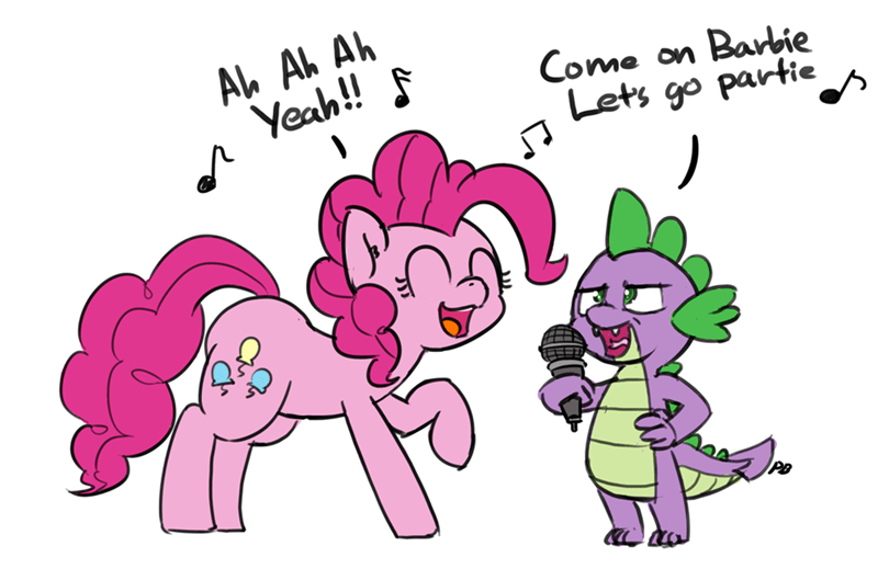 spike,aqua,barbie girl,pinkie pie,karaoke