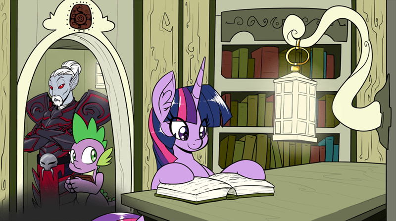 spike,twilight sparkle,the elder scrolls,morrowind
