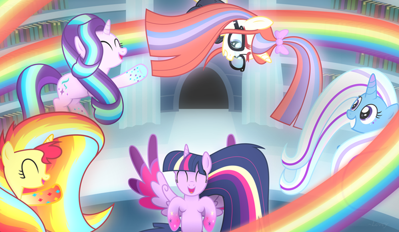the great and powerful trixie moon dancer starlight glimmer twilight sparkle rainbow power sunset shimmer - 8965514240