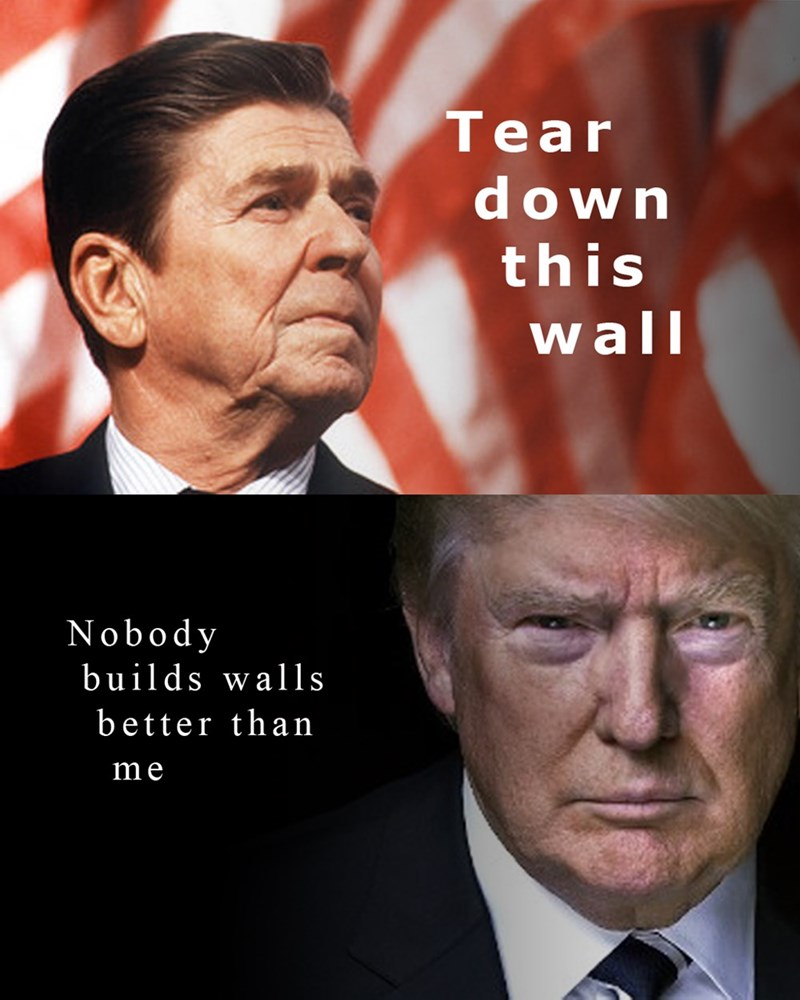donald trump,republican,Ronald Reagan
