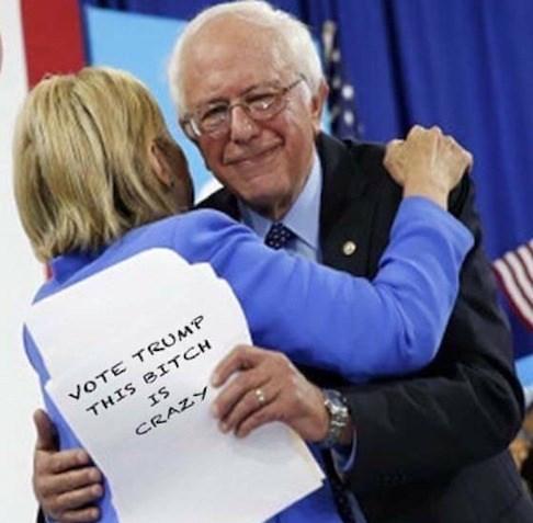 donald trump bernie sanders Hillary Clinton Democrat republican