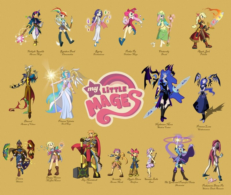 applejack,the great and powerful trixie,nightmare moon,humanized,discord,pinkamena diane pie,Sweetie Belle,derpy hooves,twilight sparkle,apple bloom,zecora,pinkie pie,princess luna,Big Macintosh,rarity,princess celestia,fluttershy,Scootaloo,rainbow dash