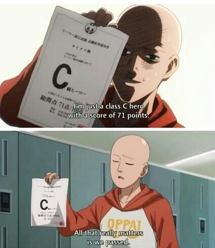 one-punch-man-anime-end-of-semester-grades-passed
