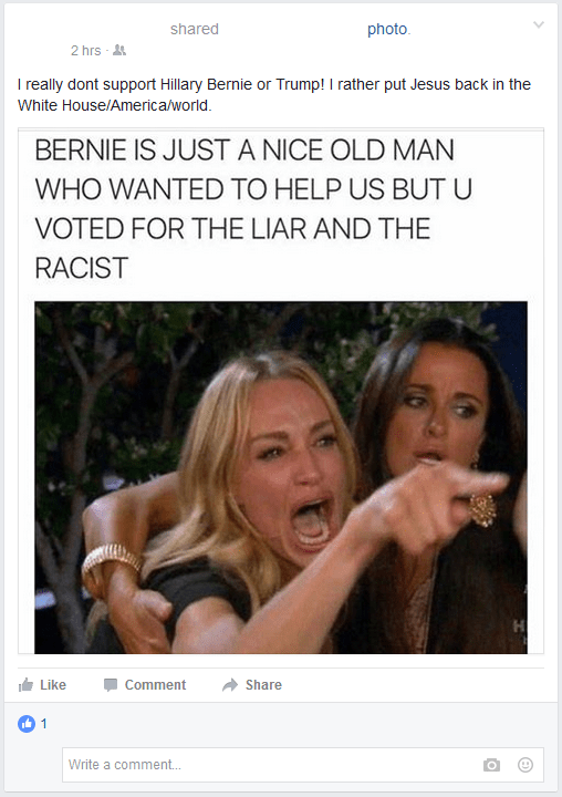 Someone's Felt the Bern a Little Too Long and They Are Crunchy Now