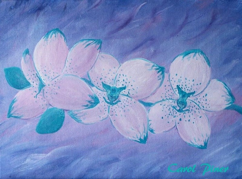 """My 8x10"""" painting called My Spotted Orchid"""
