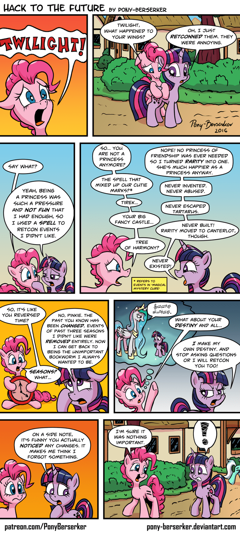 twilight sparkle the cutie map pinkie pie breaking the fourth wall comic magical mystery cure princess celestia - 8965947392