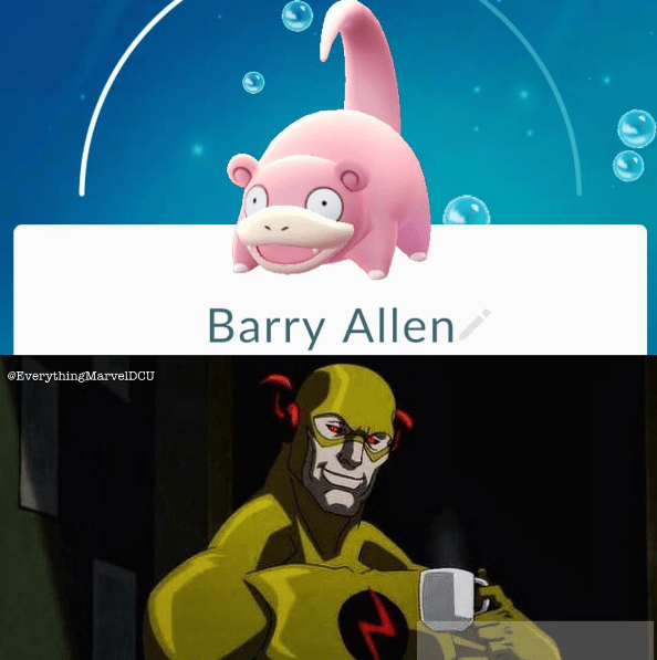 superheroes-the-flash-meets-pokemon-go-slowpoke