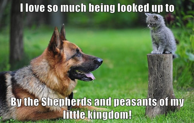 I love so much being looked up to  By the Shepherds and peasants of my little kingdom!