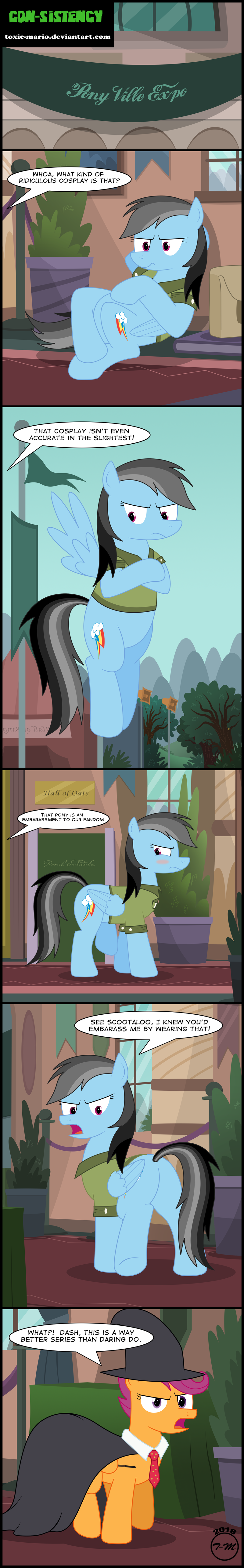 Harry Potter,stranger than fan fiction,comic,daring do,Scootaloo,rainbow dash