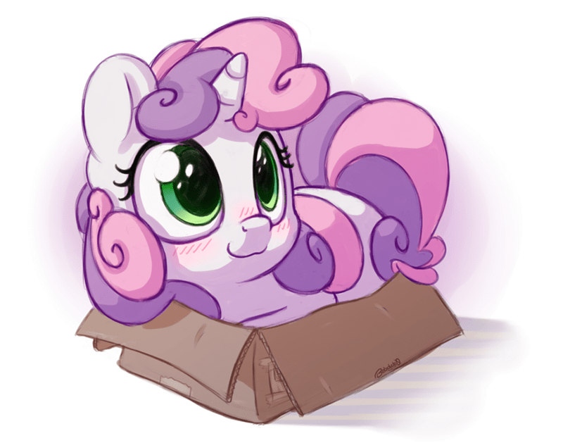 Sweetie Belle,acting like animals