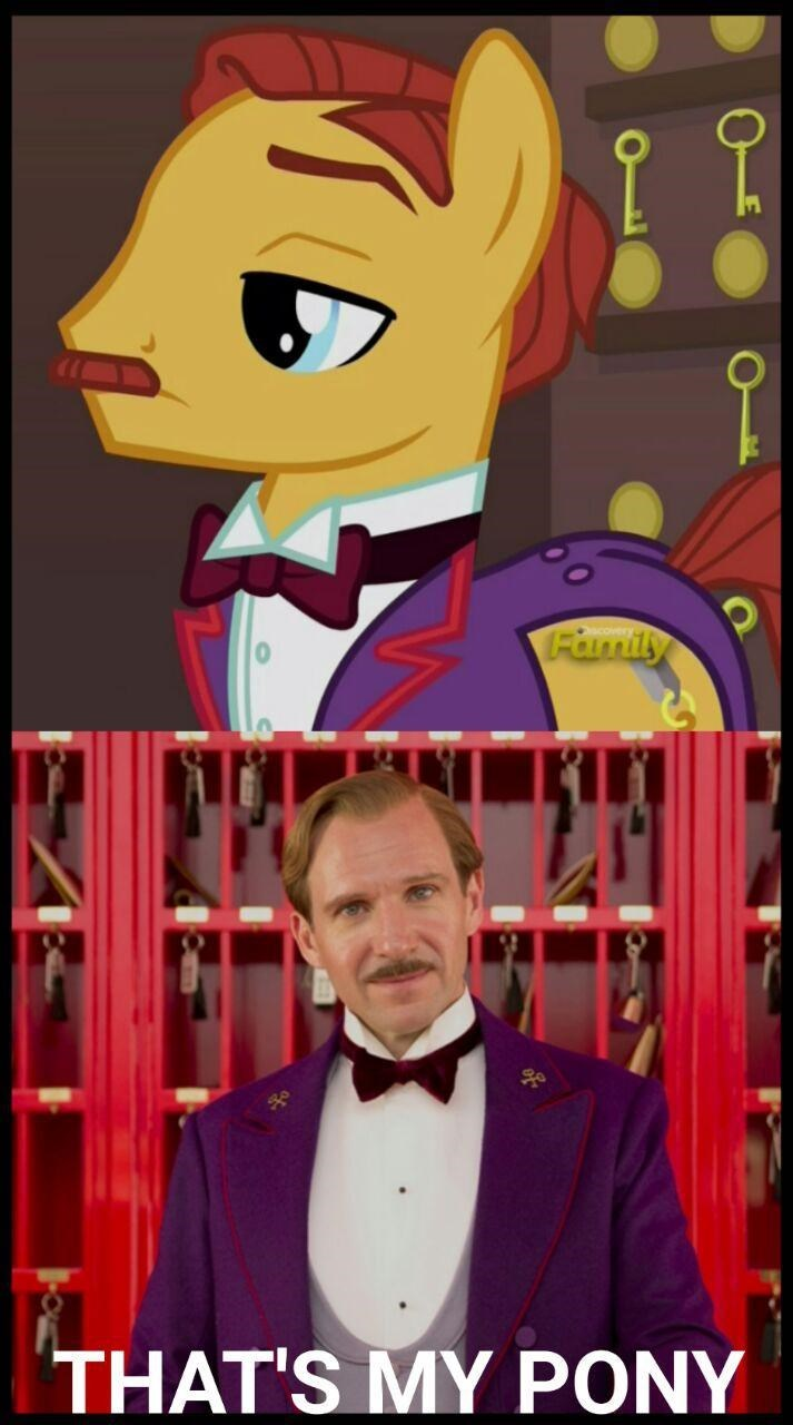 gustave h the grand budapest hotel ponify thats my pony - 8966341376