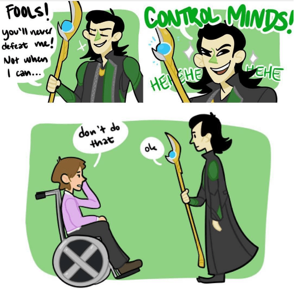 superheroes-when-professor-xavier-meets-loki-mind-control
