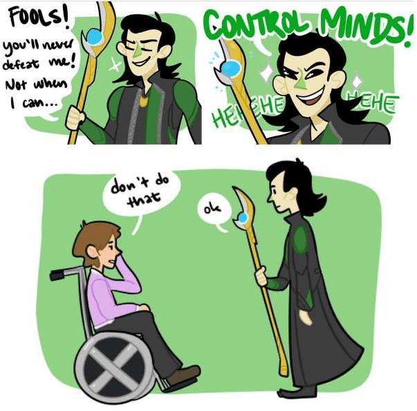 superheroes-when-professor-xavier-meets-loki-mind-control