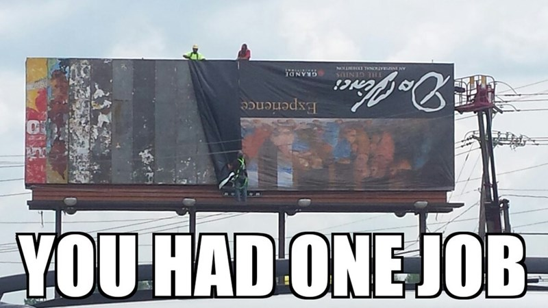 billboard FAIL you had one job classic