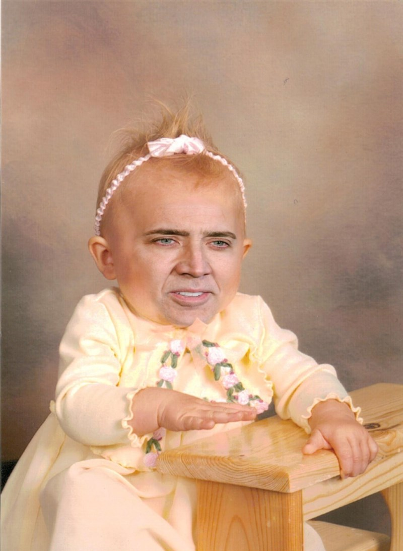 image nick cage baby What a Beautiful Child
