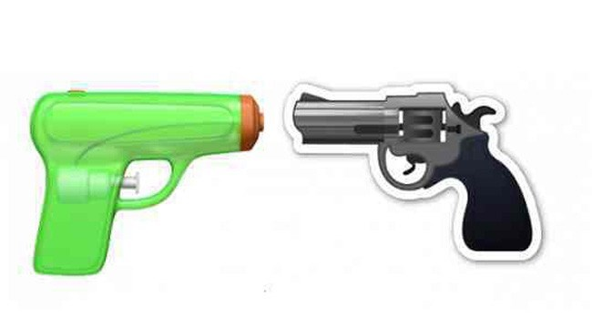 image guns emoji Apple Will Replace the Gun with a Squirt Gun Along with Tons of New Emojis