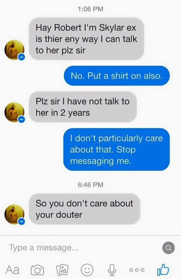 Dude tries to text this girl's dad and it doesn't go well