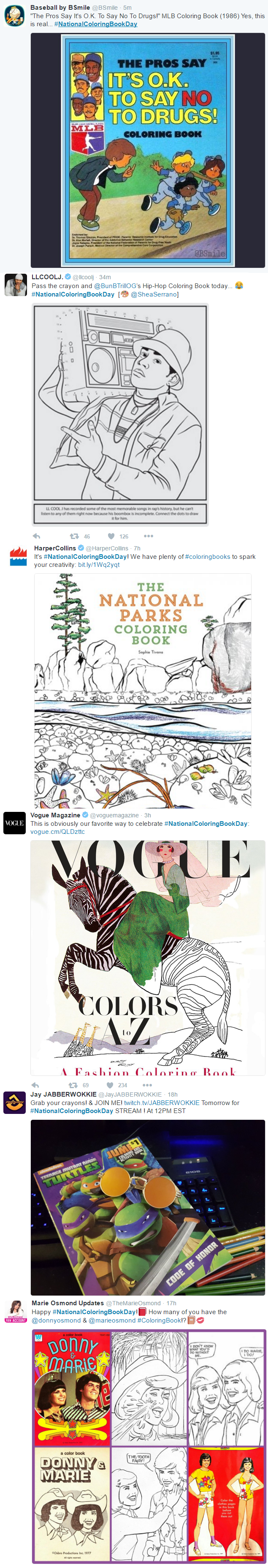 National Coloring Book Day Coloring Fun Cartoons Twitter Trending