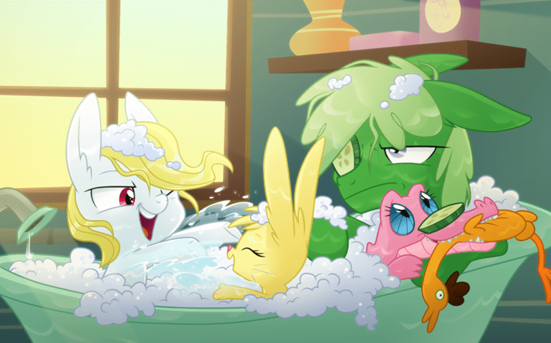 angel,cheese sandwich,species swap,pinkie pie,gummy,fluttershy,boneless