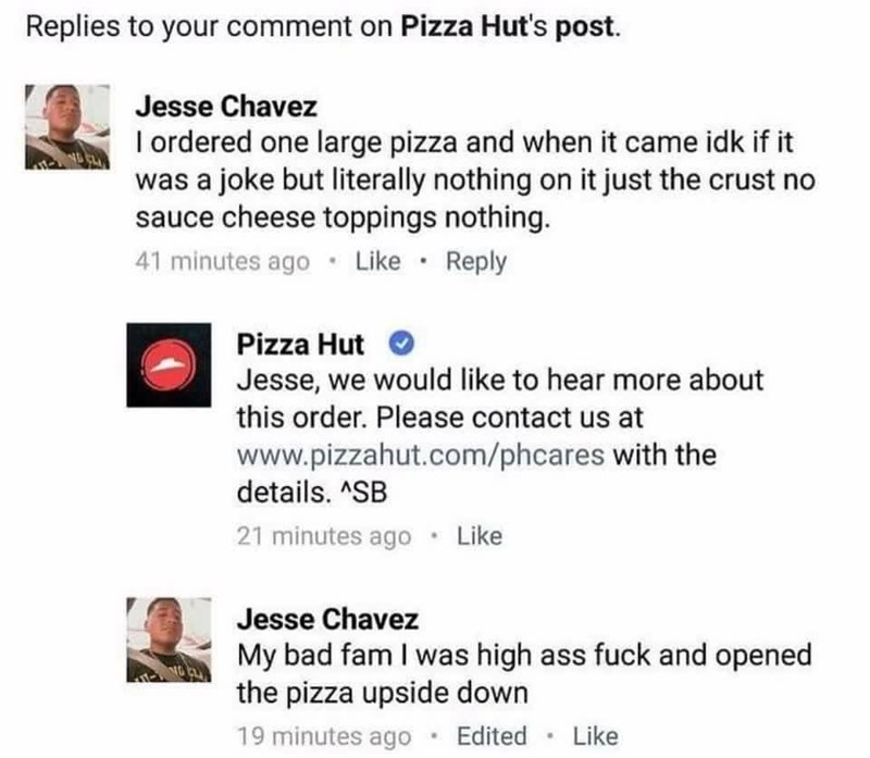 pizza hut,pizza,failbook,facebook