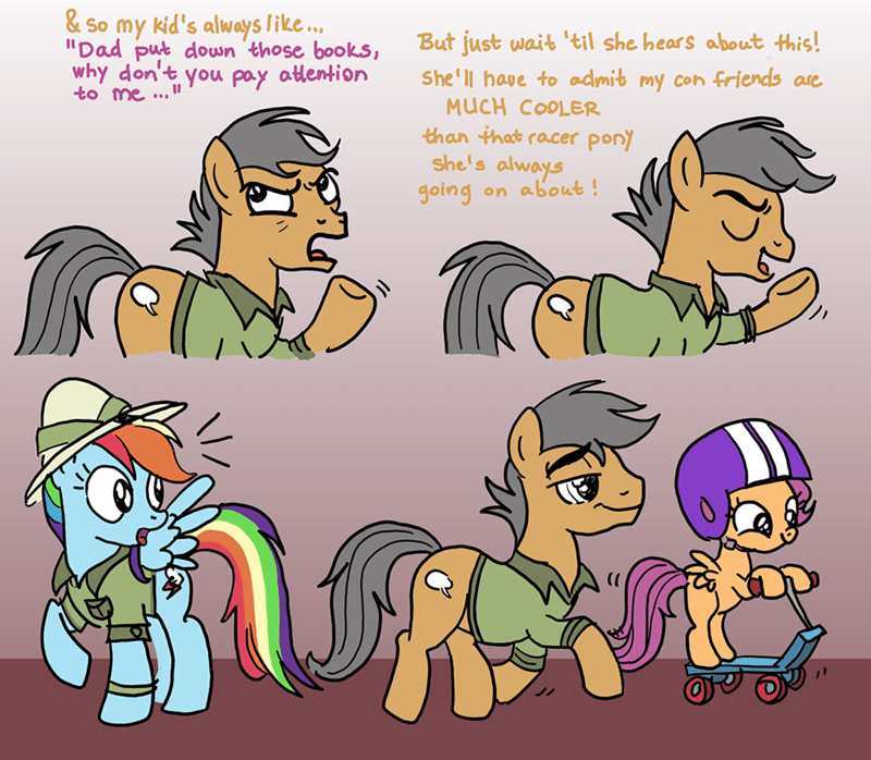 quibble pants stranger than fan fiction comic Scootaloo rainbow dash - 8967093248