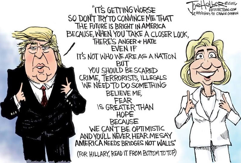 This Cartoon Perfectly Shows The Difference Between Clinton and Trump