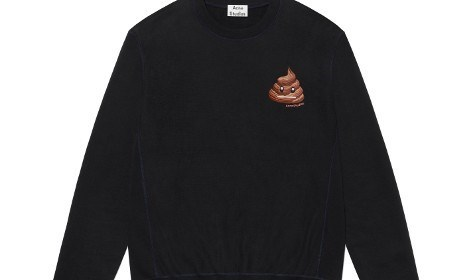 Swedish fashion brand Acne Studios has launched a new emoji-inspired collection, including a sweater with poo on it.
