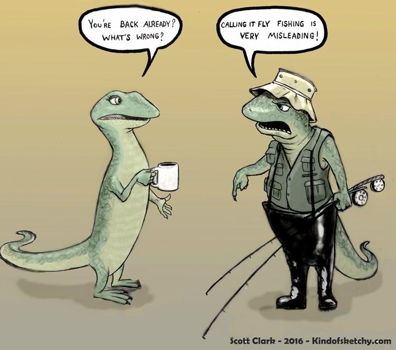 wel comics lizard puns Oh Reel-y?