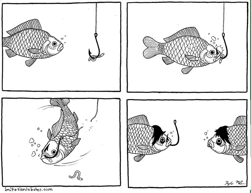 web comics fish emo Fish's First Piercing