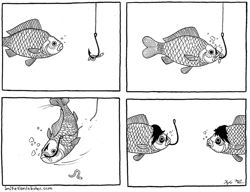 web comics fish emo Fish's First Piercing