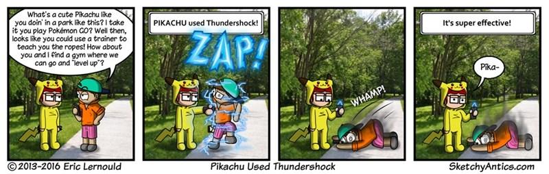 web comics pokemon taser Pika!