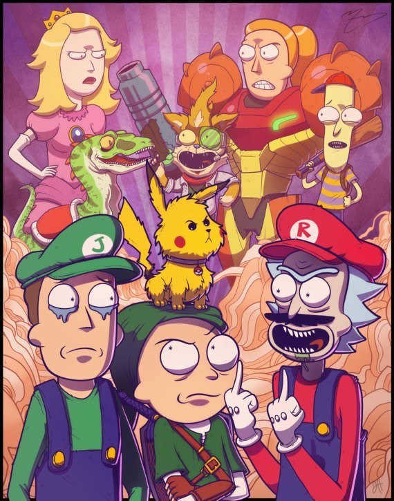 rick and morty,super smash bros,cartoons,video games