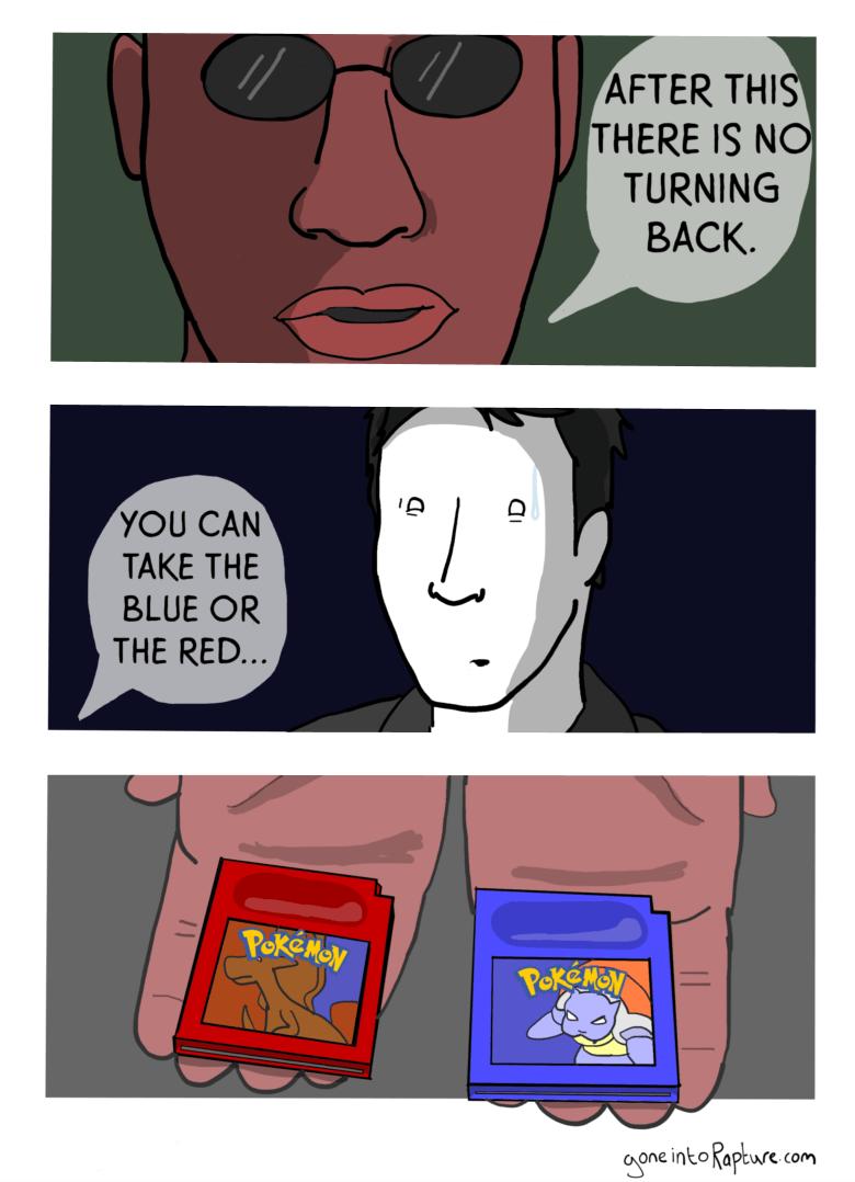 web comics pokemon the matrix I Choose... Yellow!