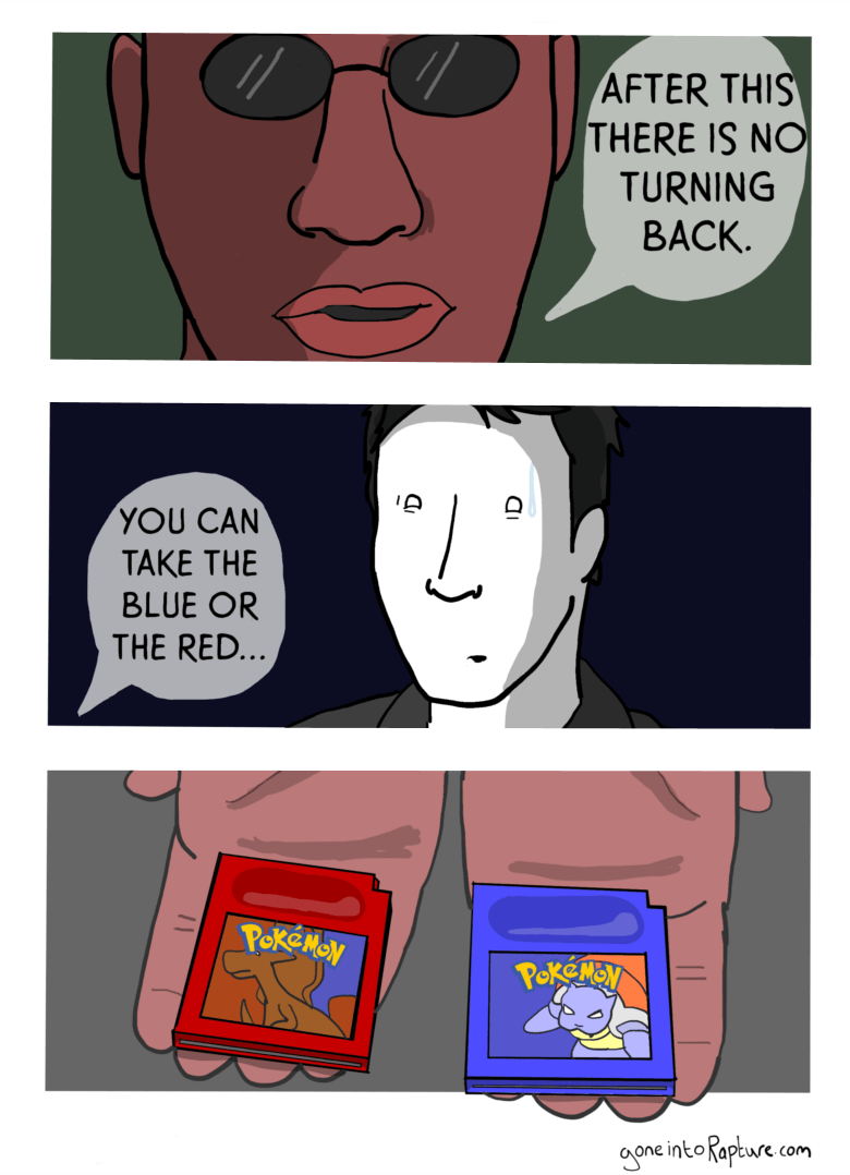 web comics pokemon the matrix I Choose... Yellow!