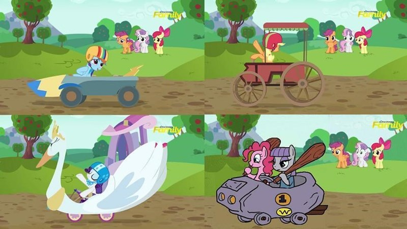 applejack Sweetie Belle apple bloom pinkie pie rarity maud pie the cart before the ponies Scootaloo rainbow dash - 8967802880