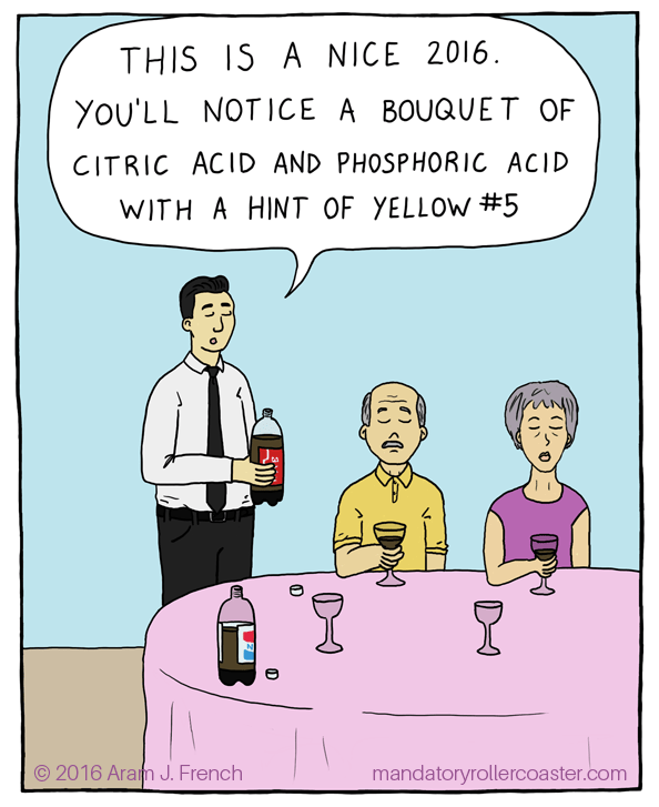 web comics soda tasting The Carmel Coloring Gives It a Slightly Carcinogenic Mouthfeel