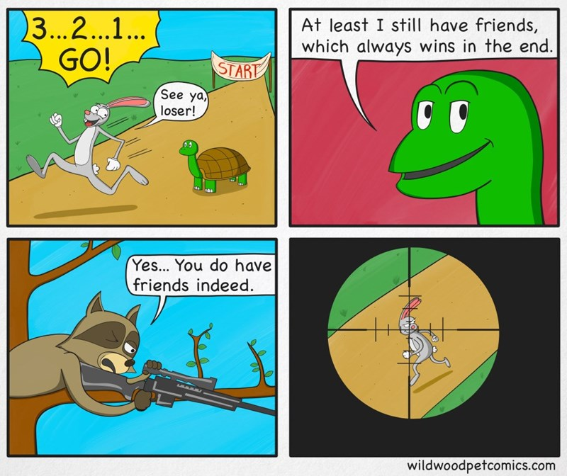web comics tortoise hare Friends In High Places