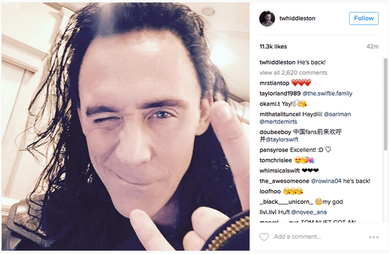 Tom Hiddleston Teases the Return of Loki in New Pic for Thor: Ragnarok!