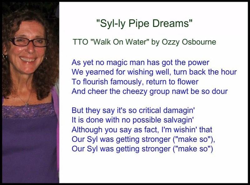 """Syl-ly Pipe Dreams"" (TTO ""Walk On Water"" by Ozzy Osbourne)"