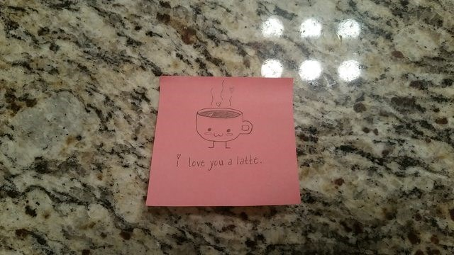 Pink - Love you a latte.