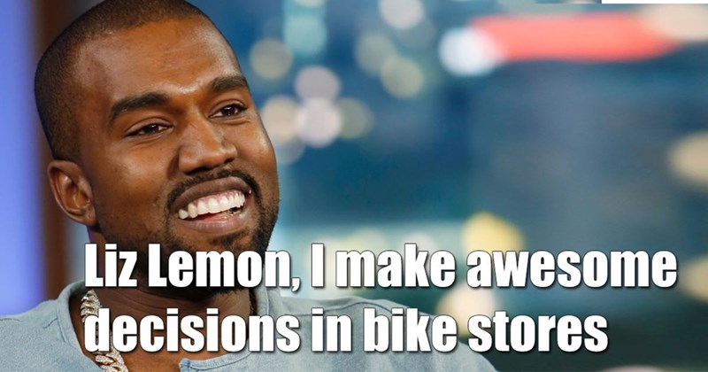 Facial expression - Liz Lemon, I make awesome decisions in bike stores