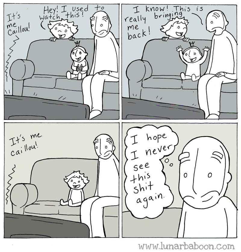 web comics parenting kid show Takes Me Back