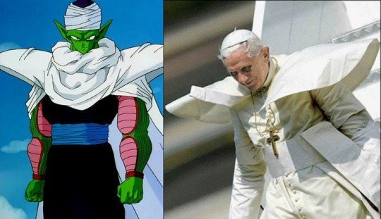 the pope,piccolo,Dragon Ball Z