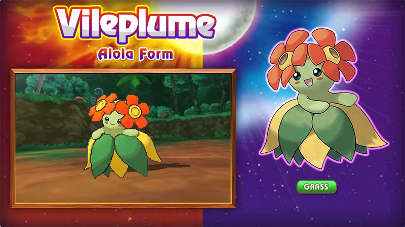 vileplume Pokémon pokemon sun and moon - 8968545792
