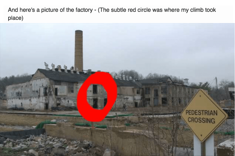 picture of factory with red circle drawn on it