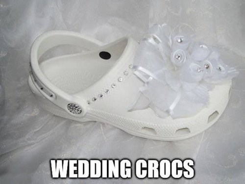 wedding,crocs